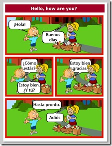 greetings in spanish spanish for kids