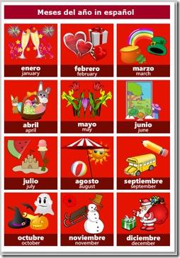 Calendar Days Of The Week In Spanish.Learn Calendar Vocabulary In Spanish Spanish For Kids